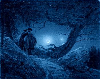 Dos hombres contemplando la luna (Caspar David Friedrich)